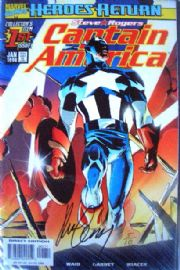 Captain America #1 Dynamic Forces Signed Ron Garney DF COA Ltd 10 Marvel comic book